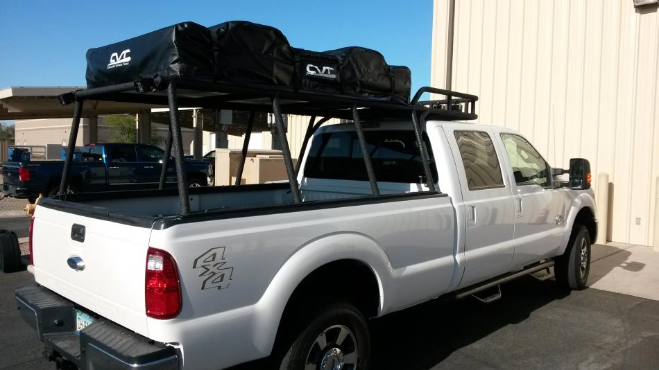Custom Rack Tent And Rigid Lights Truck Mates A Great